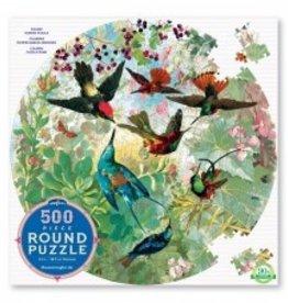 Eeboo Hummingbirds puzzle 500 pieces ROUND