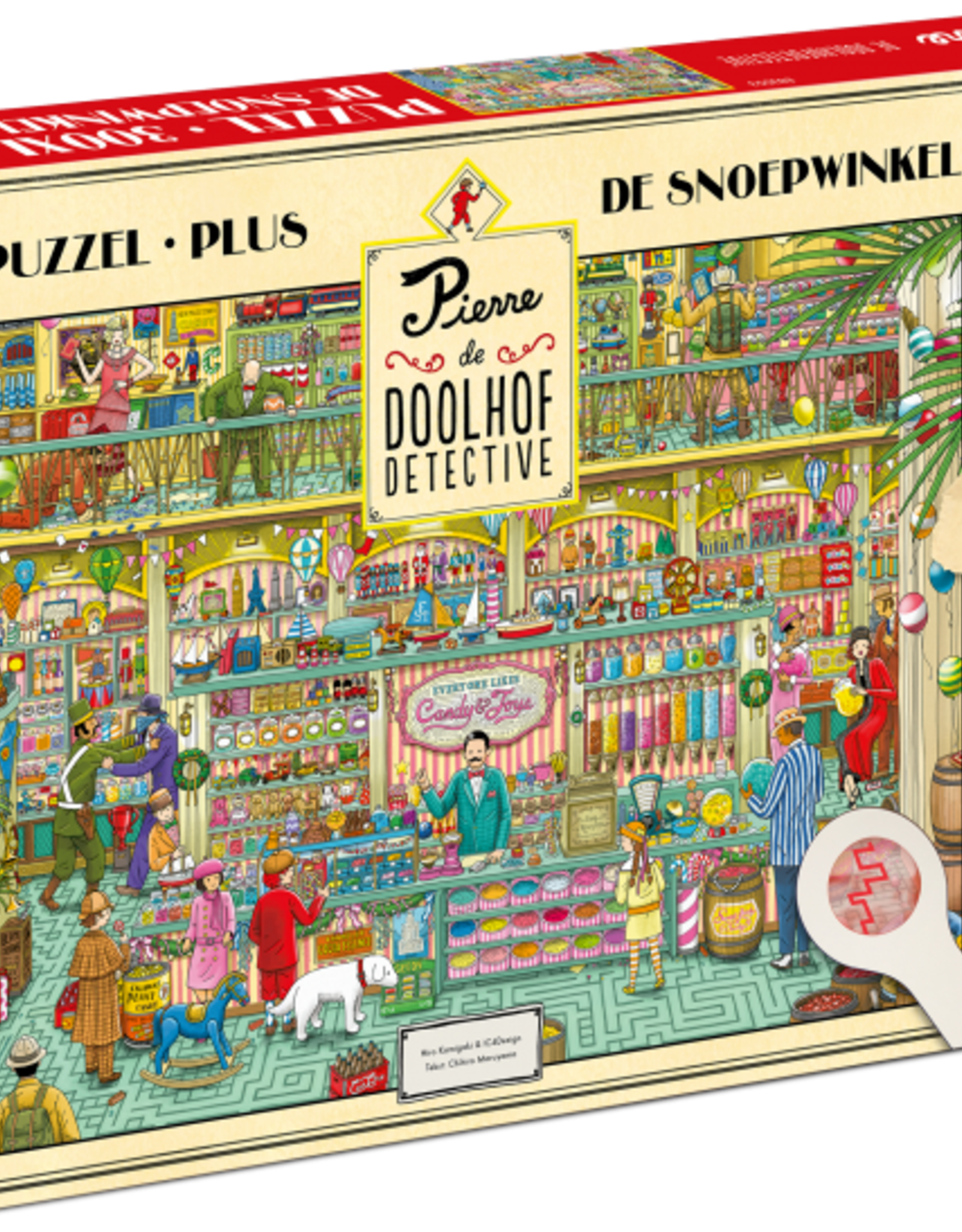 Tucker's  fun factory Pierre Doolhof Detective puzzel  The Candystore - 300 pieces (Instructions in Dutch)