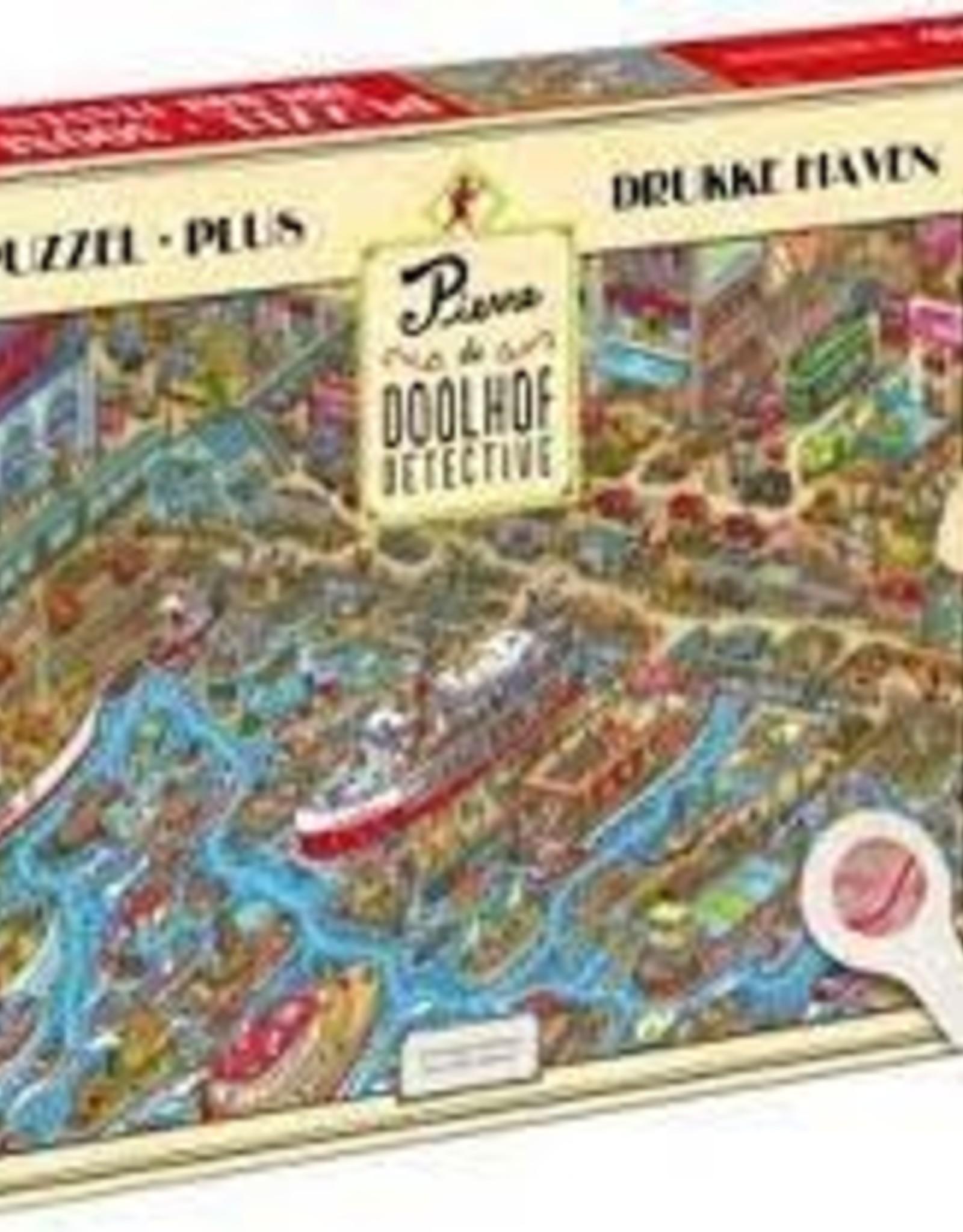 """Tucker's  fun factory Pierre Doolhof Detective puzzel  """"Drukke haven""""  300 stukjes"""