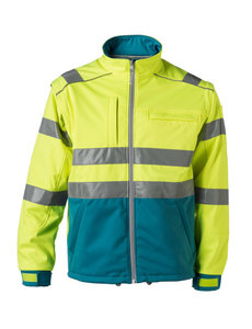 Rescuewear Softshell jas enamel/fluorgeel