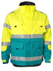Rescuewear Midi-Parka, enamel/fluorgeel, Maat XXL