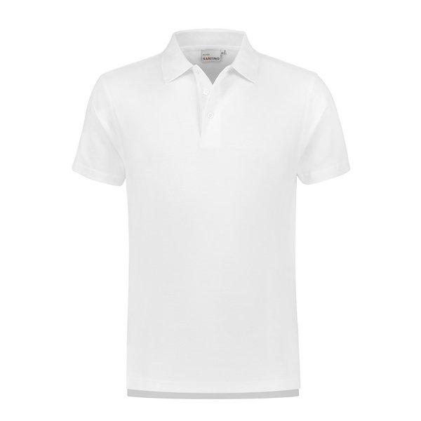 Santino Poloshirt Ricardo, unisex, wit