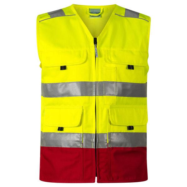 Rescuewear Zomerhesje HiVis Kl. 1 Rood / Neon Geel