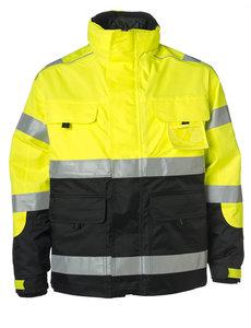Rescuewear Midi-Parka HiVis Kl. 3 Zwart / Neongeel