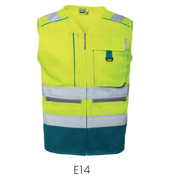 Rescuewear Zomerhetje Dynamic HiVis Kl. 1 Enamelblauw / Neon Geel