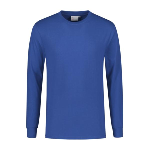 Santino T-shirt lange mouw James, kobaltblauw
