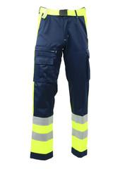 Rescuewear Unisex Hose Dynamic, Navyblau / Neon Gelb