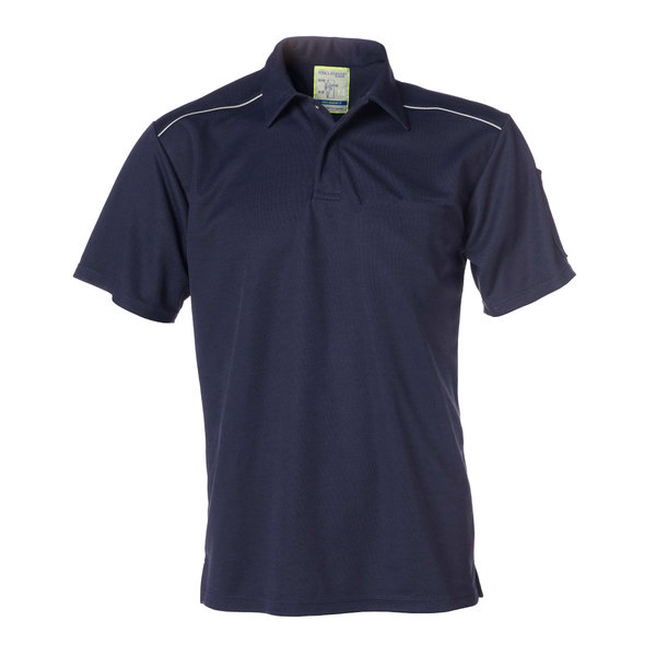 Rescuewear Poloshirt, kurze Ärmel, Natur Navy Blau