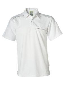 Rescuewear Poloshirt, kurze Ärmel mit Brusttasche, Natura Weiss