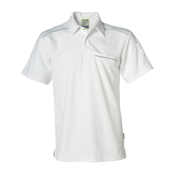 Rescuewear Poloshirt, kurze Ärmelm mit Brusttasche, Natura Weiss.