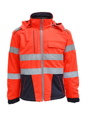 Rescuewear Softshell Dynamic, HiVis klasse 3,  Marineblauw/Neonrood