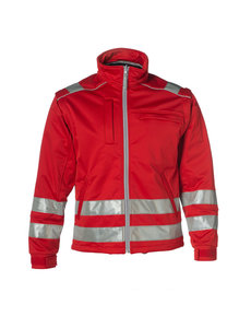 Rescuewear Softshell jack Rood