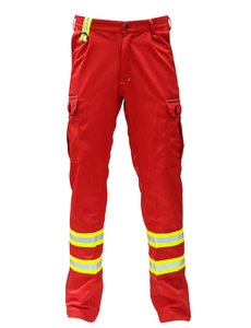 Rescuewear Unisex broek voor waterrescue, rood, met waterafstotende voering