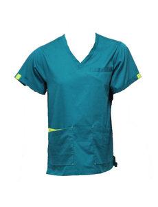 Rescuewear Ziekenhuisshirt korte mouw, Enamelblauw