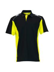 Rescuewear Poloshirt Dynamic korte mouw Zwart / Neongeel