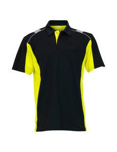 Rescuewear Poloshirt Dynamic kurze Ärmel Schwarz / Neongelb