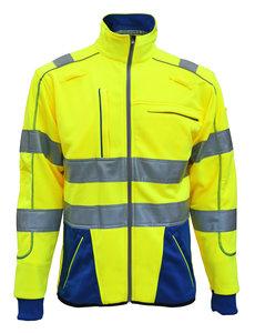 Rescuewear Sweatjack Dynamic HiVis, Kobaltblauw/Neongeel