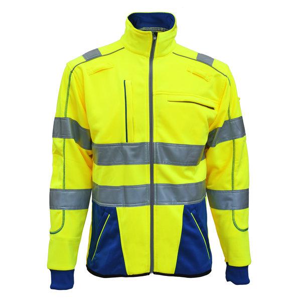 Rescuewear Sweatjacket Dynamic HiVis, Kobaltblau/Neongelb