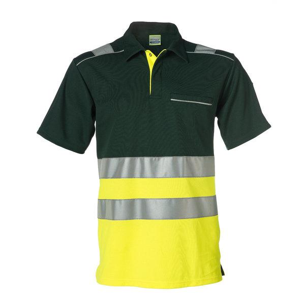 Rescuewear Poloshirt korte mouw, Neongeel/Groen, HiVis Klasse I