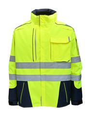 Rescuewear Midi Parka Dynamic HiVis, Navy/ Neongelb