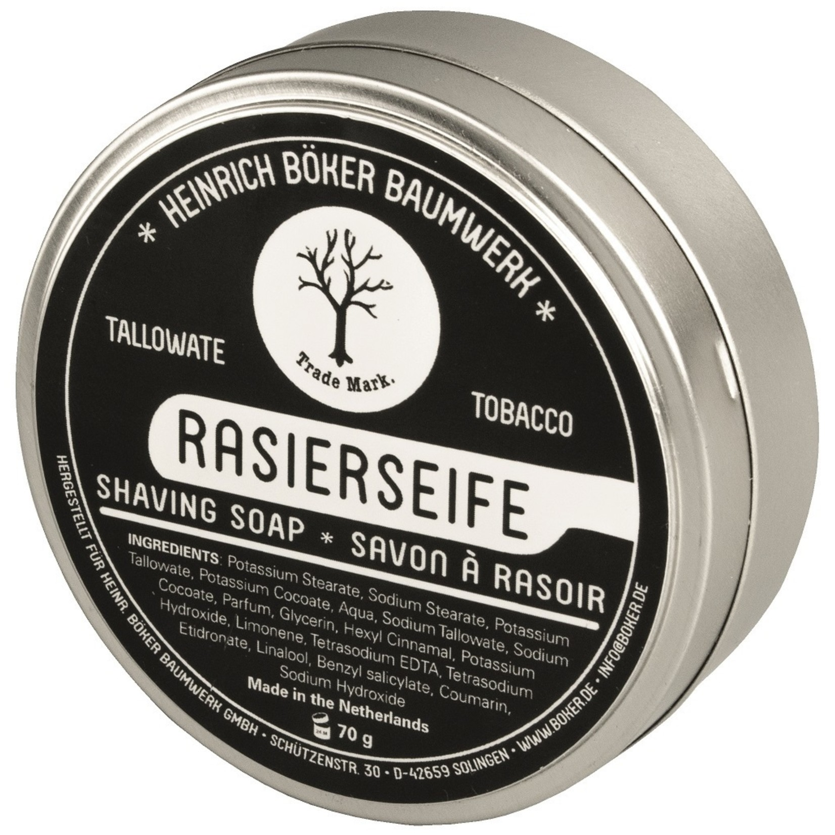 Boker Boker scheerzeep tallowate/tobacco
