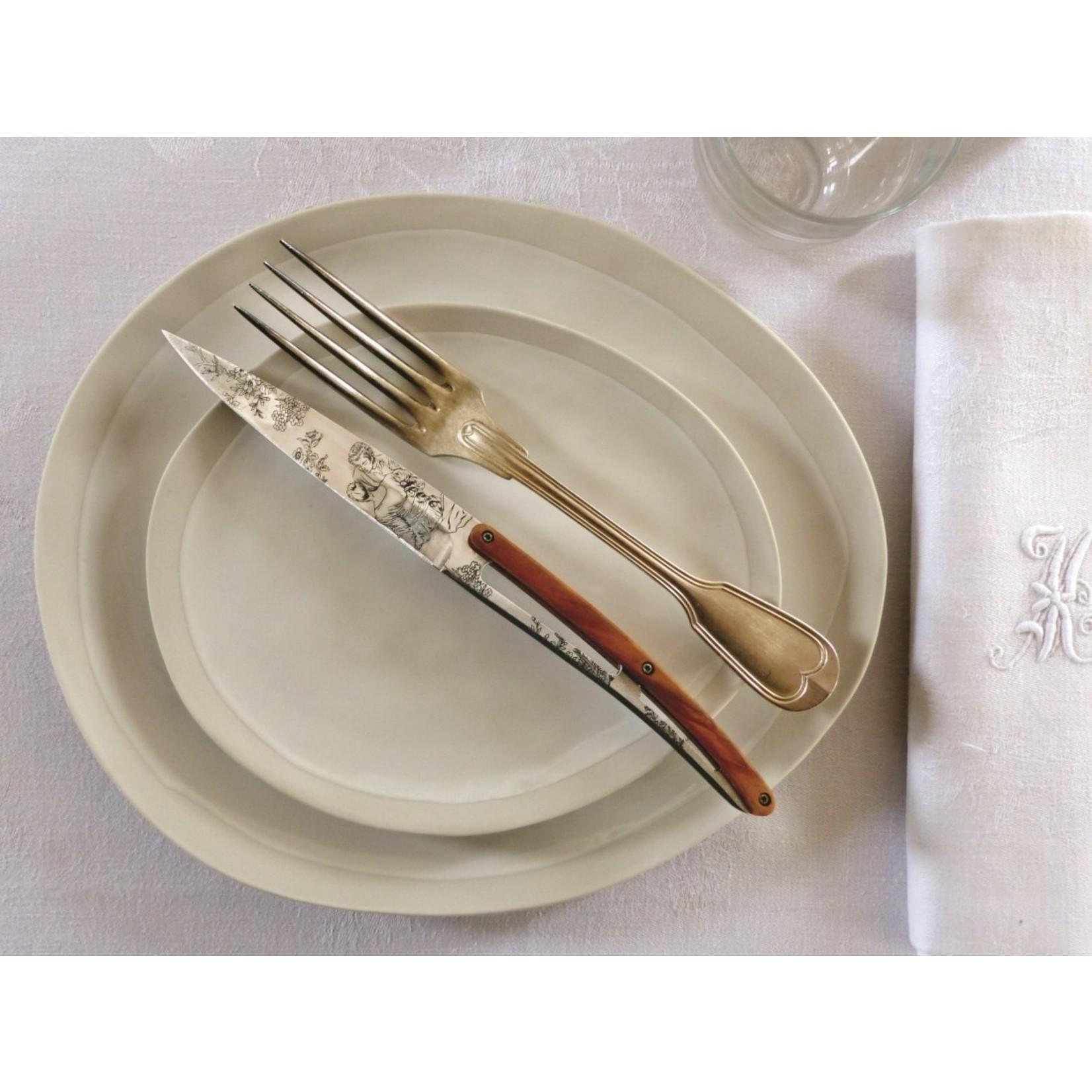 Deejo Deejo Steakmessenset 6-delig Toile de Jouy mirror finish