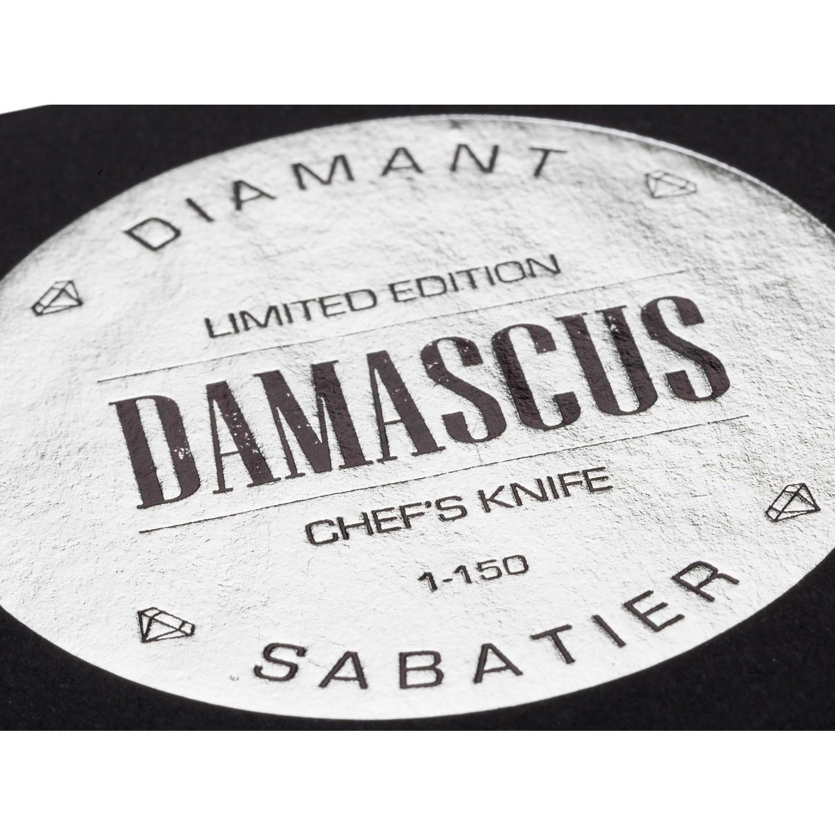 Diamant Sabatier Diamant Sabatier Limited edition damascus koksmes 20cm