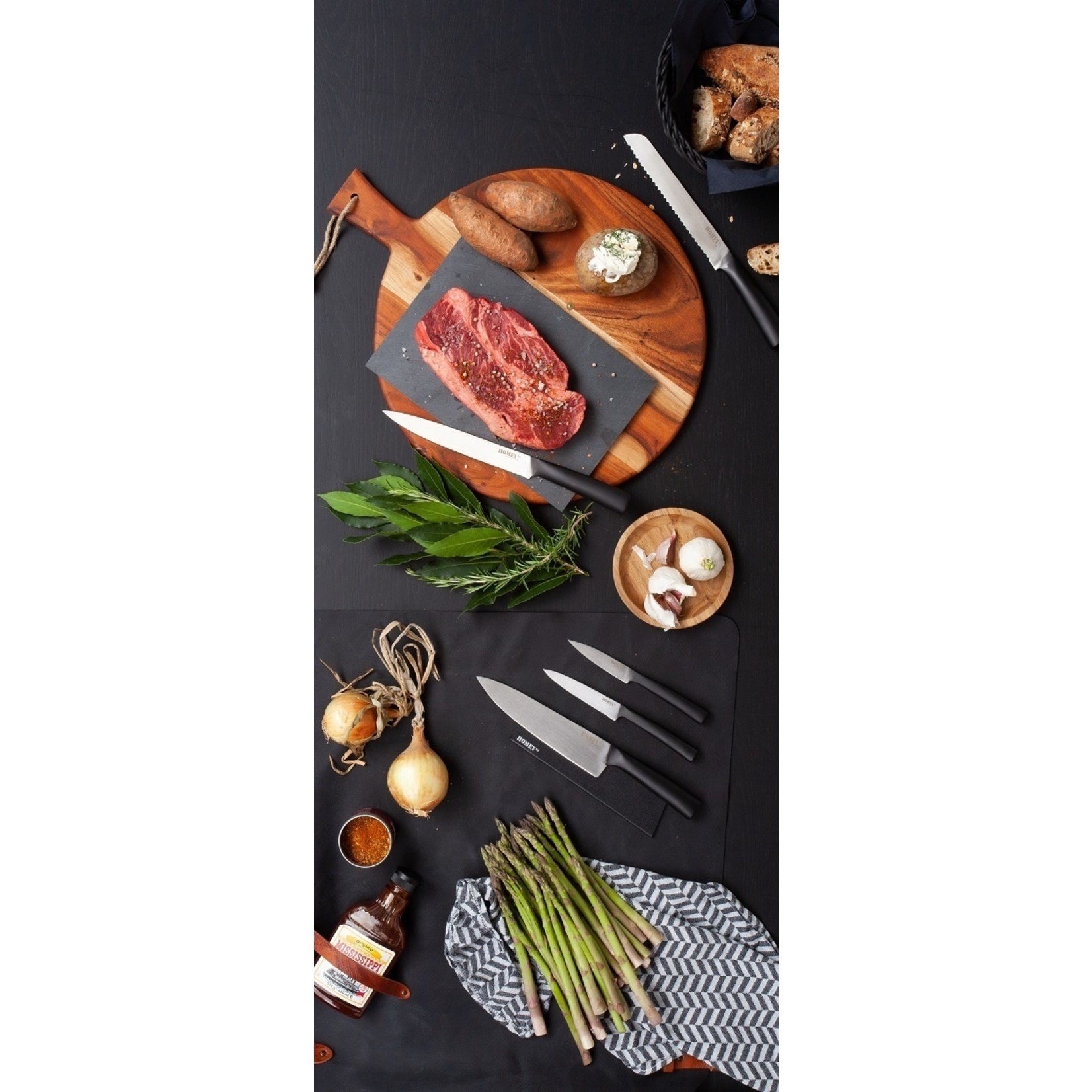 Homeys Homeys Svart vleesmes 20cm