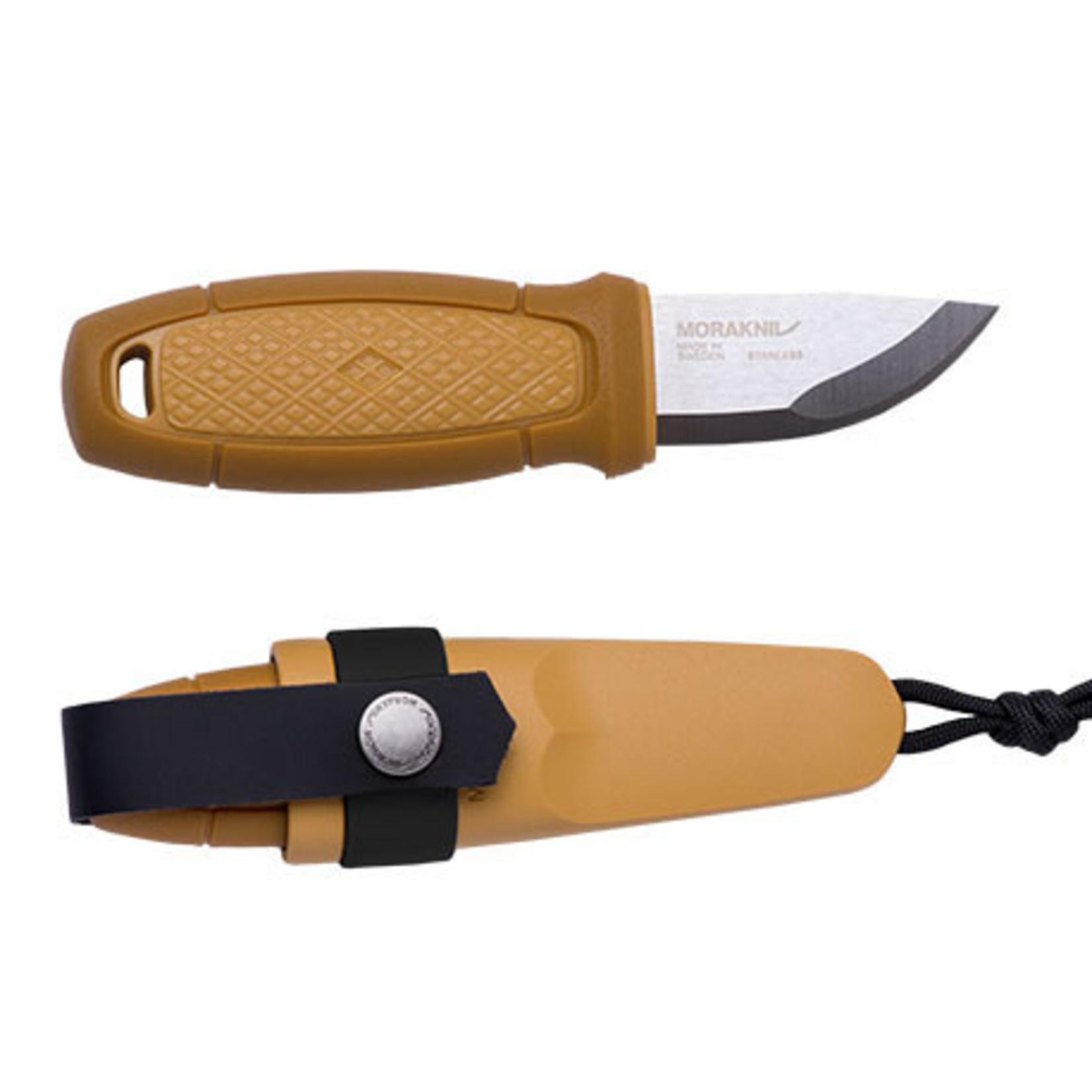 Mora of Sweden Mora Eldris geel met accessoires