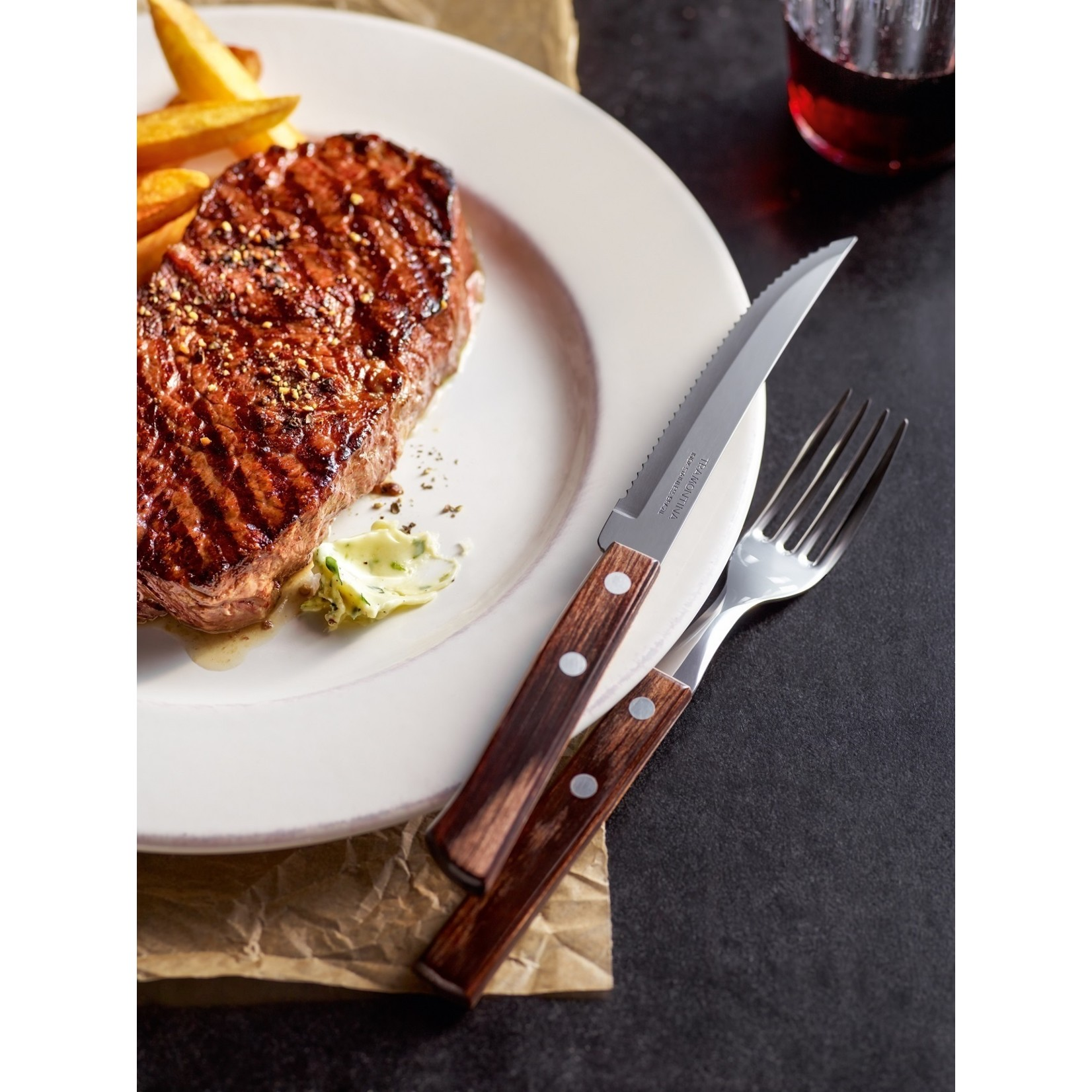Tramontina Tramontina Churrasco steakmessenset 6-delig bruin