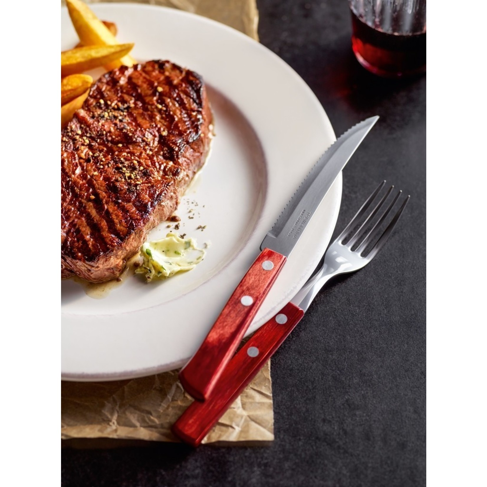 Tramontina Tramontina Churrasco steakmessenset 6-delig rood
