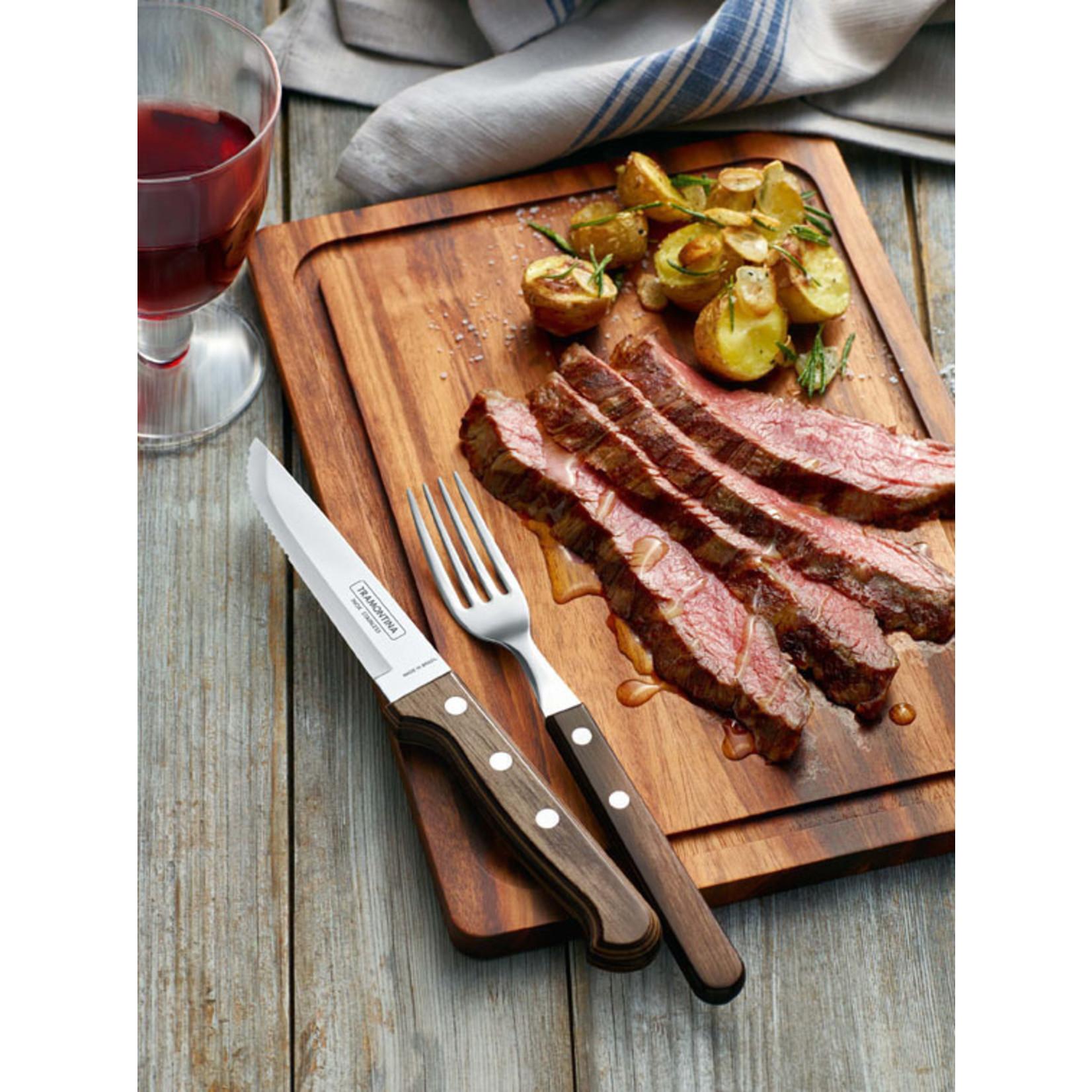 Tramontina Tramontina Churrasco steakmessenset Gaucho 6-delig bruin