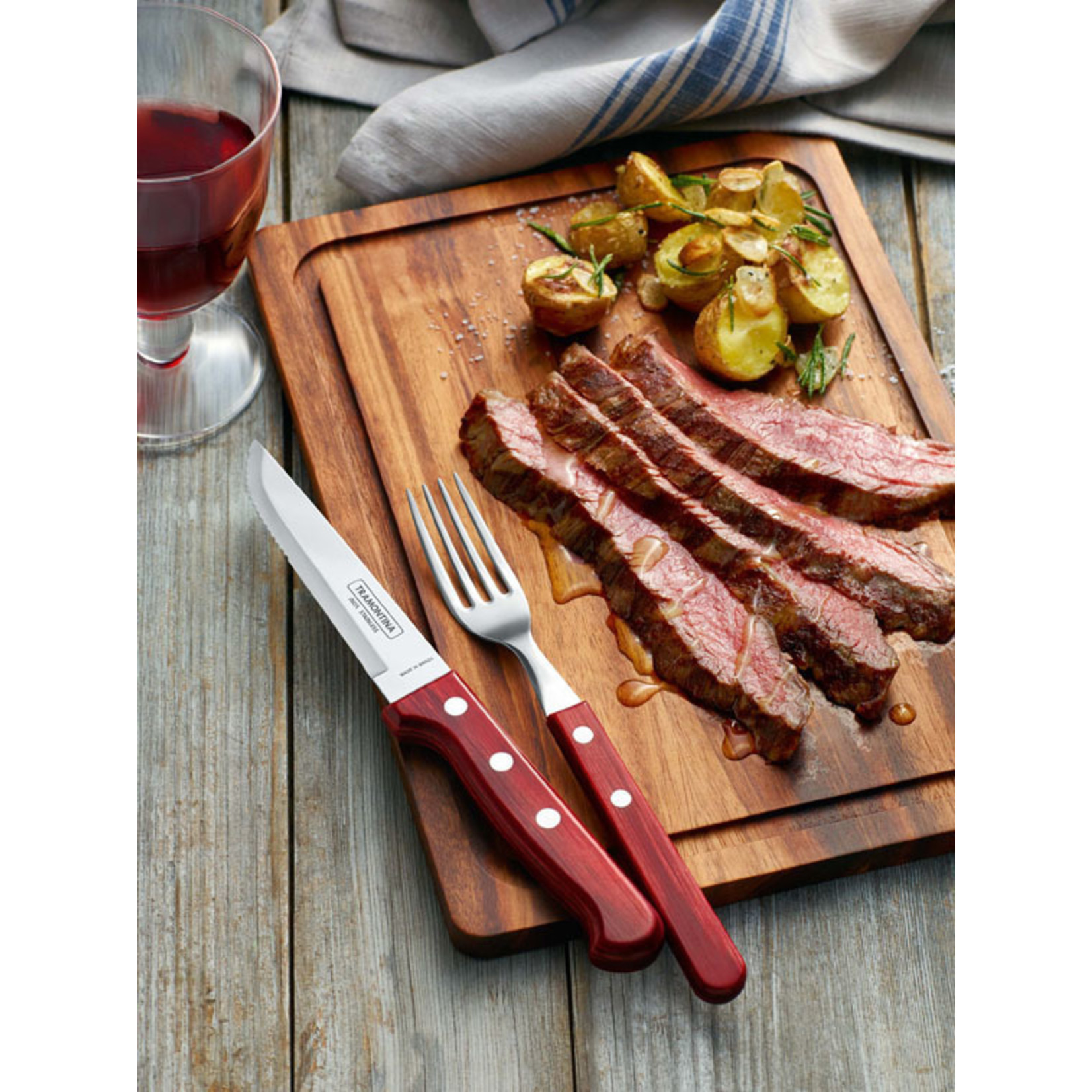 Tramontina Tramontina Churrasco steakmessenset Gaucho 6-delig rood