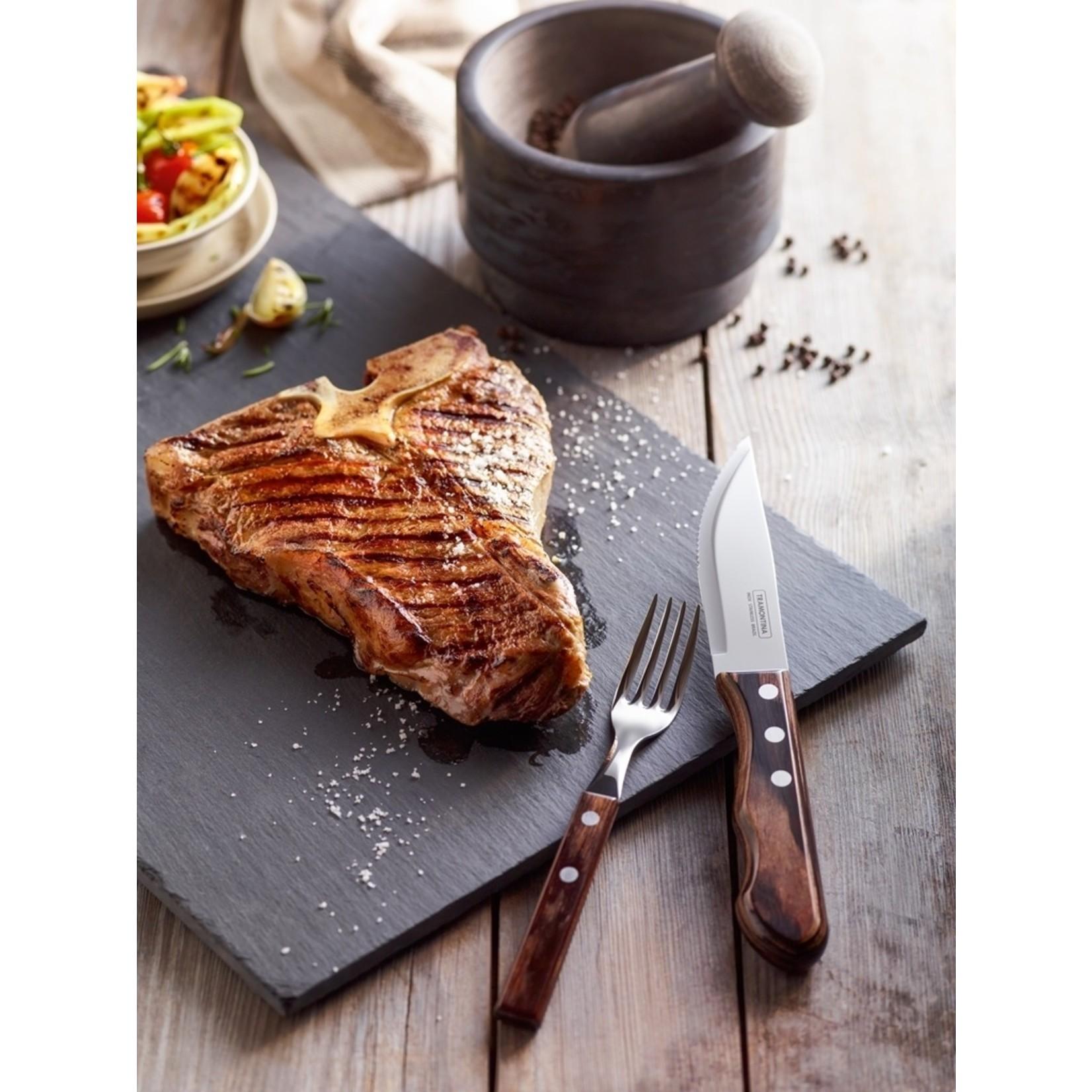 Tramontina Tramontina Churrasco steakmessenset Jumbo 4-delig bruin