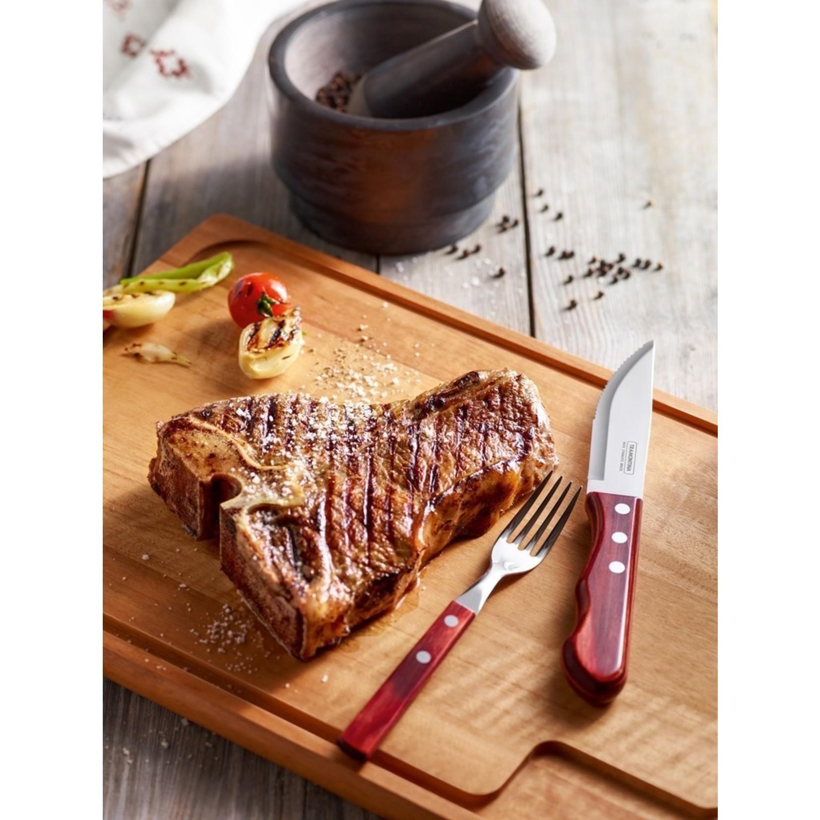 Tramontina Tramontina Churrasco steakmessenset Jumbo 6-delig rood
