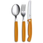 Victorinox Bestekset 3-delig, inklapbaar mes, oranje