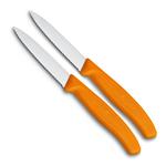 Victorinox Victorinox groente- en schilmesje gekarteld oranje (set van 2)