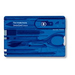 Victorinox SwissCard blauw transparant