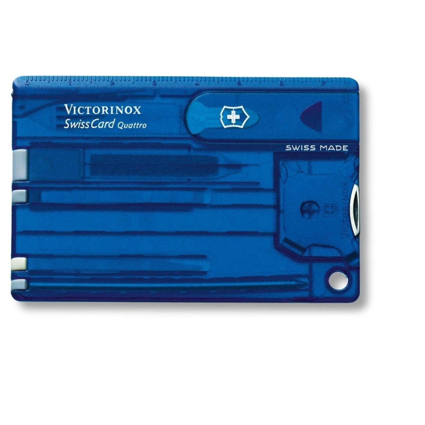 Victorinox Victorinox SwissCard Quattro blauw transparant