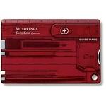 Victorinox SwissCard Quattro rood transparant