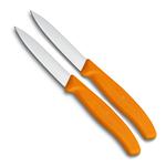 Victorinox Victorinox SwissClassic groente- en schilmesje oranje (set van 2)
