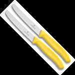 Victorinox SwissClassic tomaat-, worst en kaasmes geel (set van 2)
