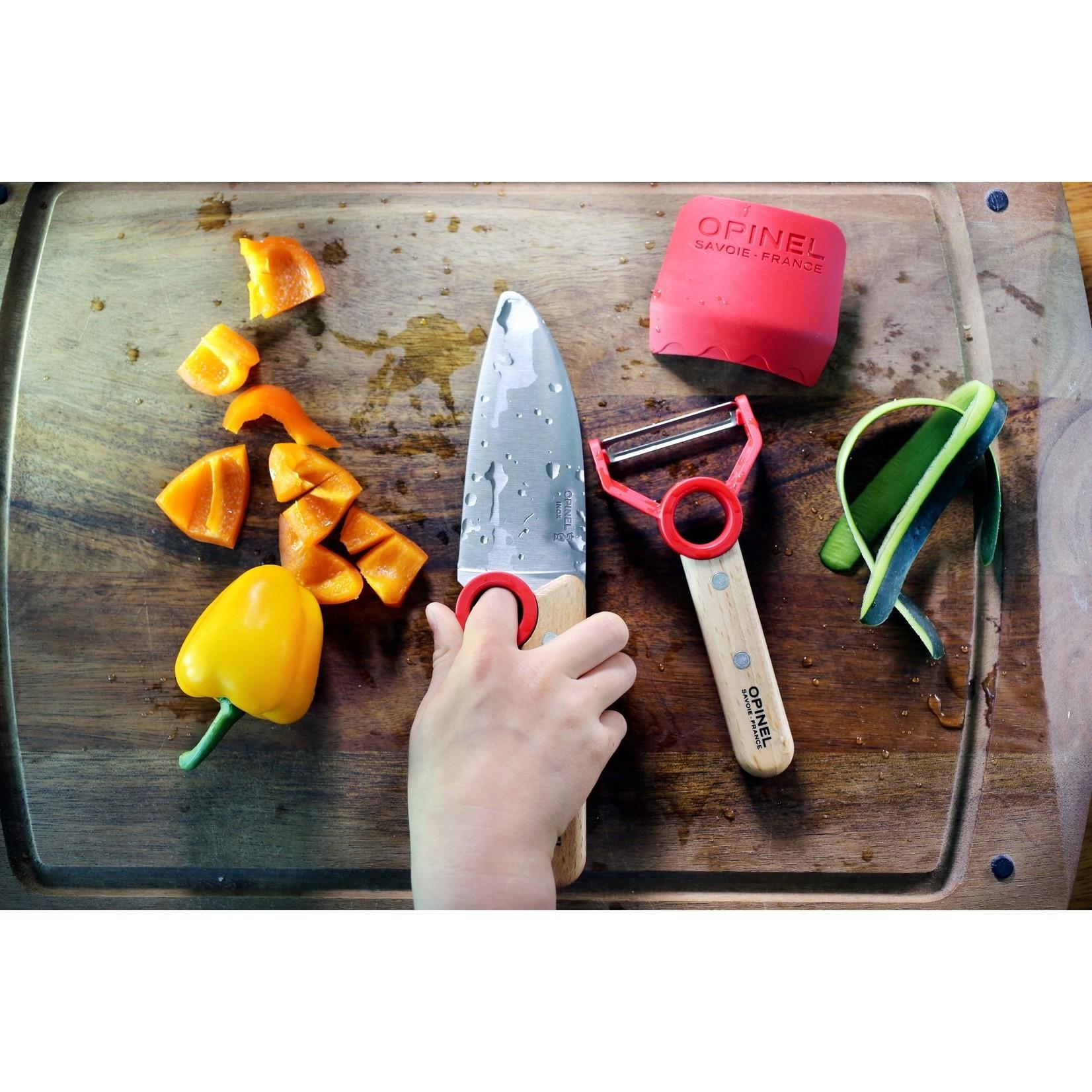Opinel Opinel Le petit chef koksmes met vingerbeschermer