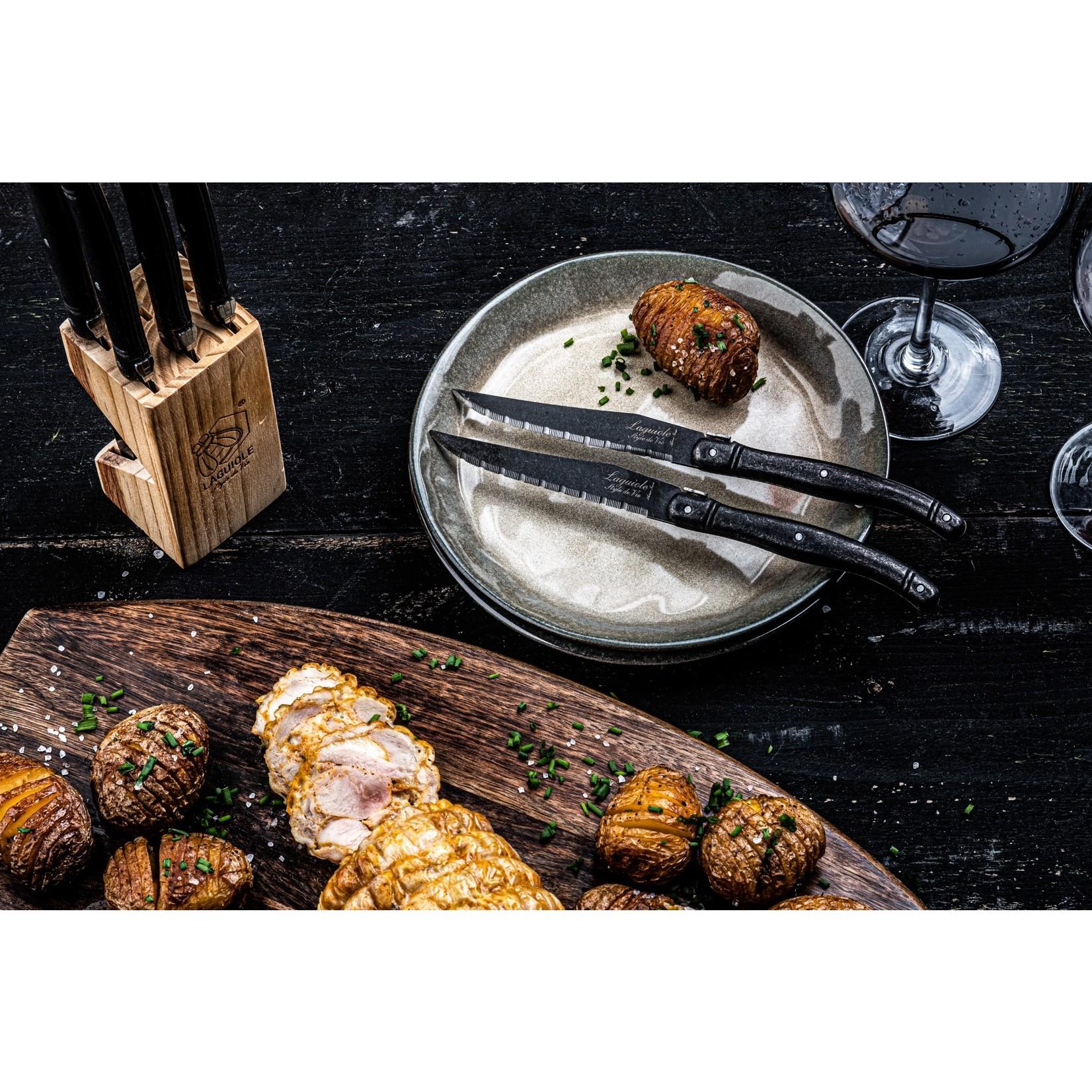 Laguiole Style de Vie Laguiole Style de Vie Premium Line steakmessenset 6-delig stonewash