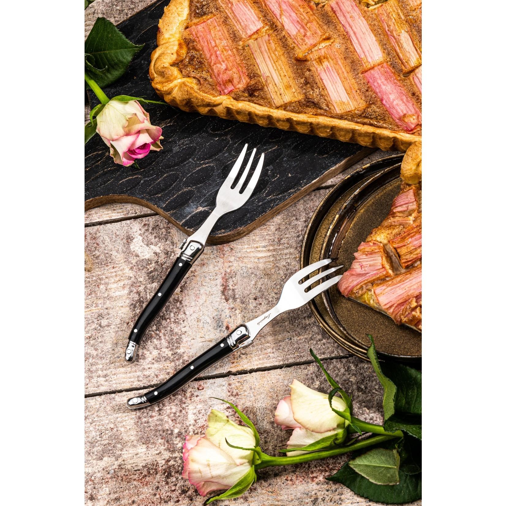 Laguiole Style de Vie Laguiole Style de Vie Premium Line taartvorken 6-delig zwart