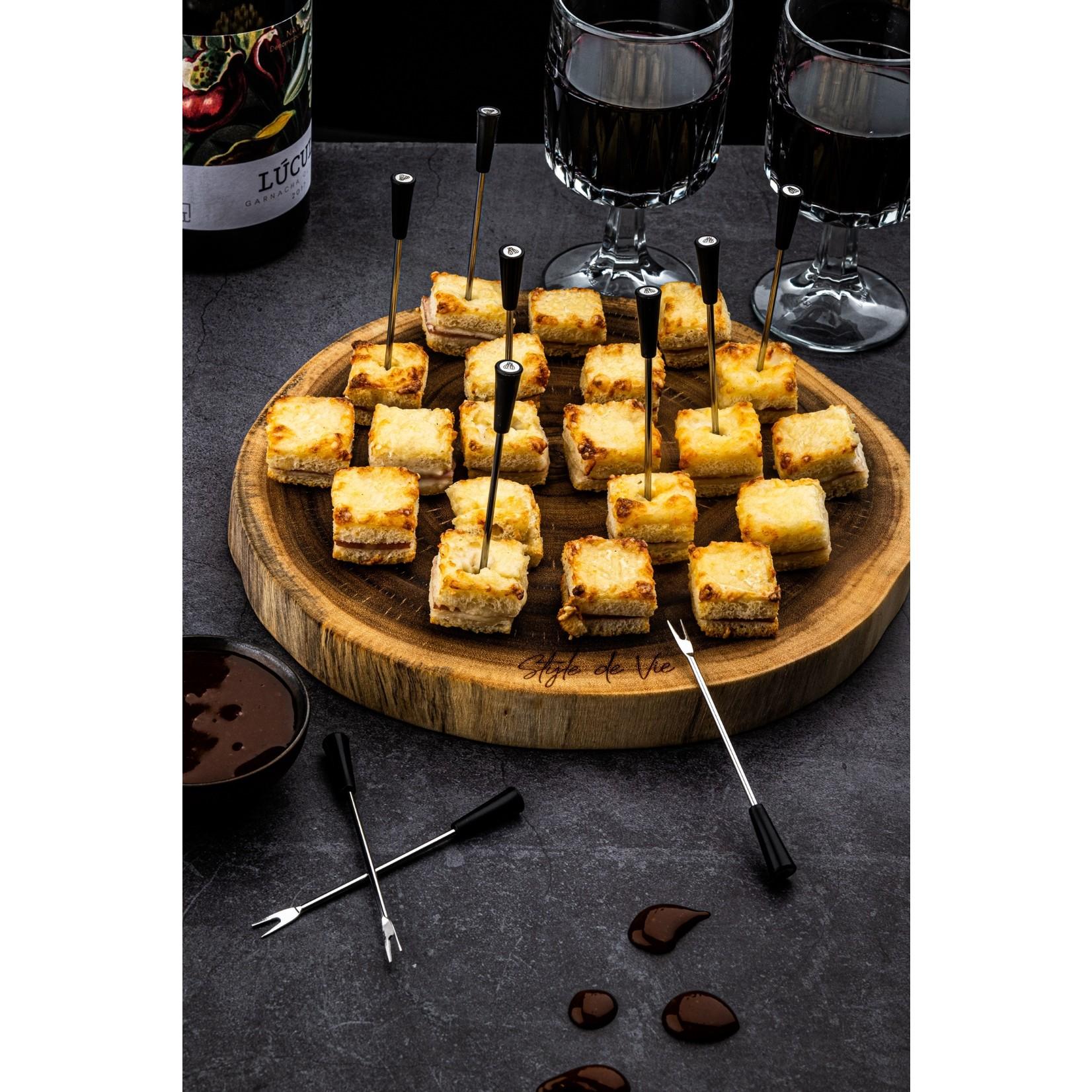 Laguiole Style de Vie Laguiole Style de Vie pinchos zwart 12-delig