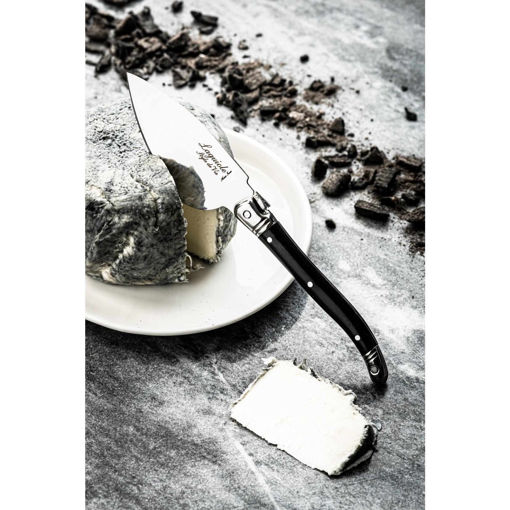 Laguiole Style de Vie Laguiole Style de Vie Premium Line kaasmessenset 3-delig zwart