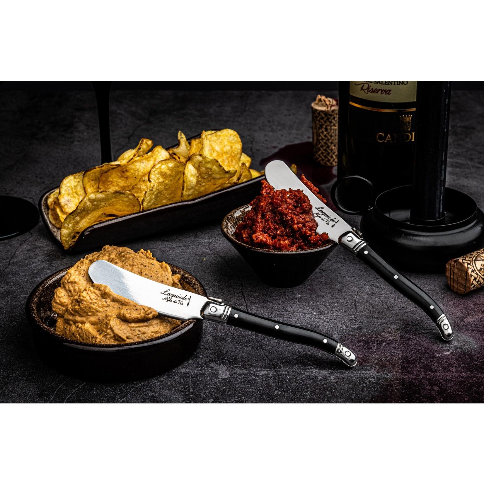 Laguiole Style de Vie Laguiole Style de Vie Premium Line botermessenset 4-delig zwart