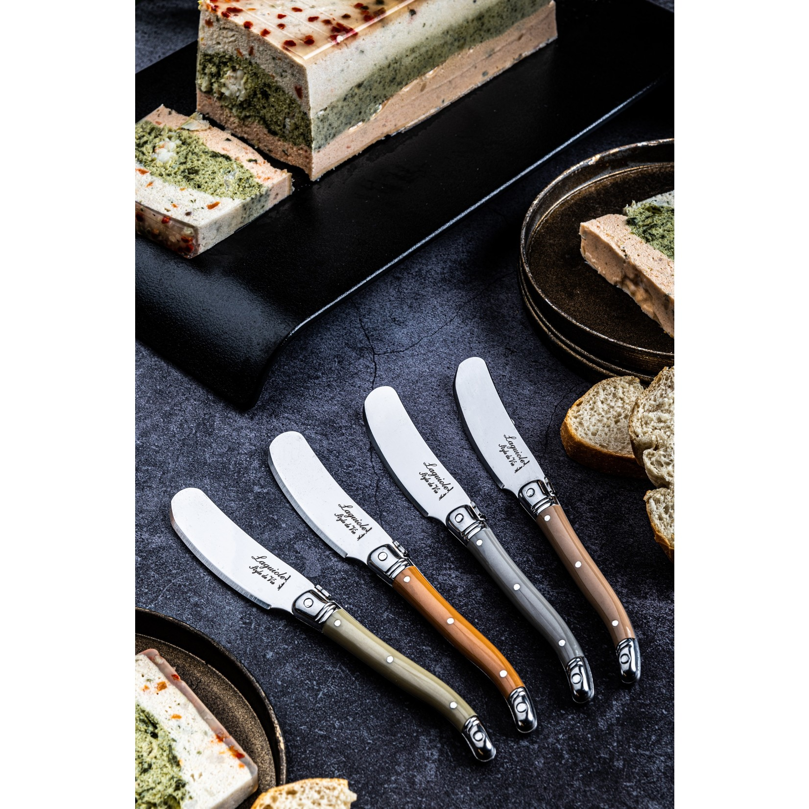Laguiole Style de Vie Laguiole Style de Vie Premium Line botermessenset 4-delig treasure