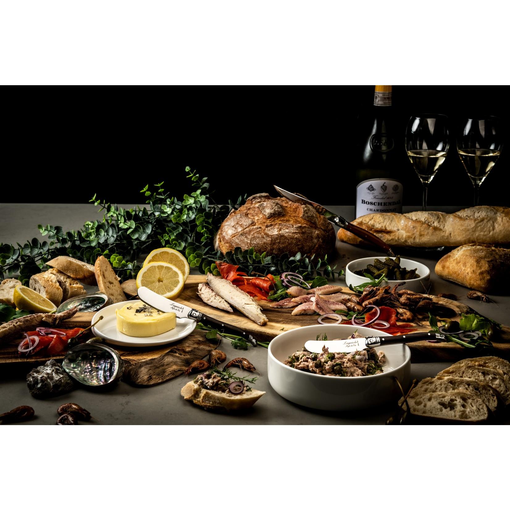 Laguiole Style de Vie Laguiole Style de Vie Premium Line botermessenset 4-delig Dark Wood